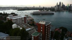 Queen Victoria arriving on first visit to Sydney  Feb 2008