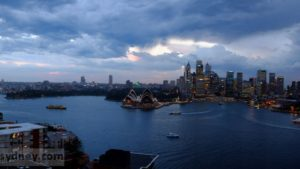 Stormy clouds over Sydney