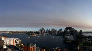 Smoke drifting over Sydney 13 Aug 2017